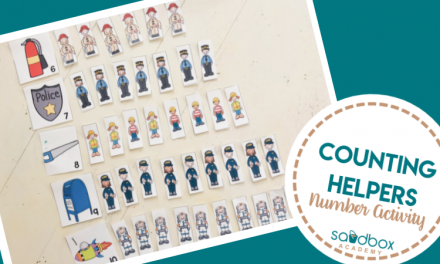 Preschool Counting Activity – My Community Theme
