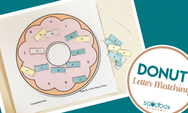 Letter Recognition For Preschoolers Donut Activity