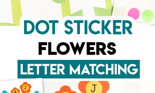 Dot Sticker Flower – Letter Worksheet for Preschool